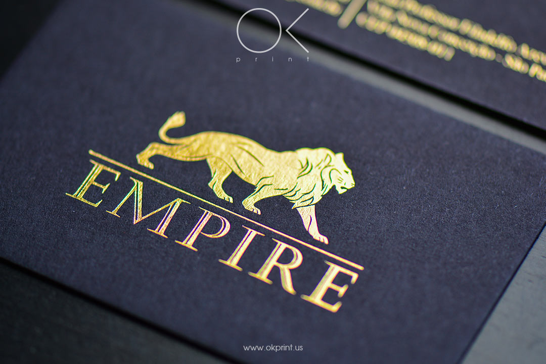 "LUXURY FOILED BUSINESS CARDS FOR ""EMPIRE"""