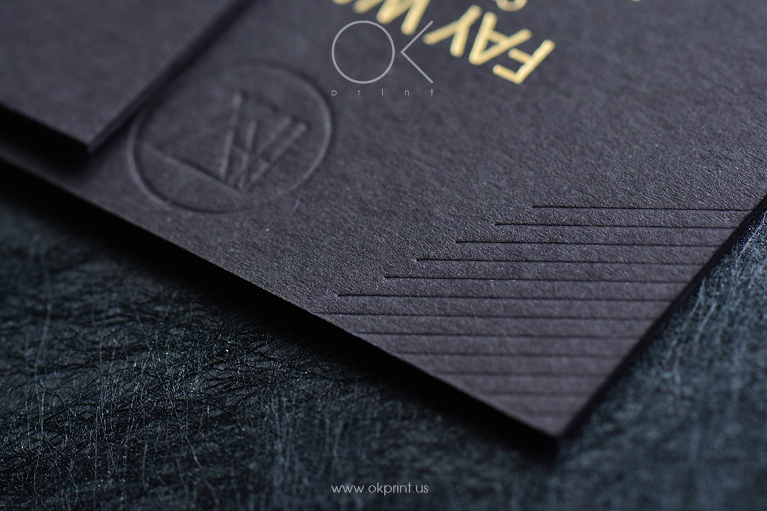 Luxury duplexed business cards with debossing