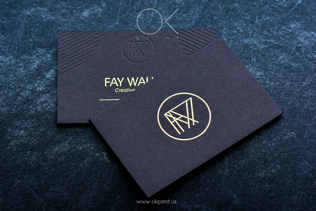 FOILED BUSINESS CARDS FOR FAY WALKER,  CREATIVE RETOUCHER