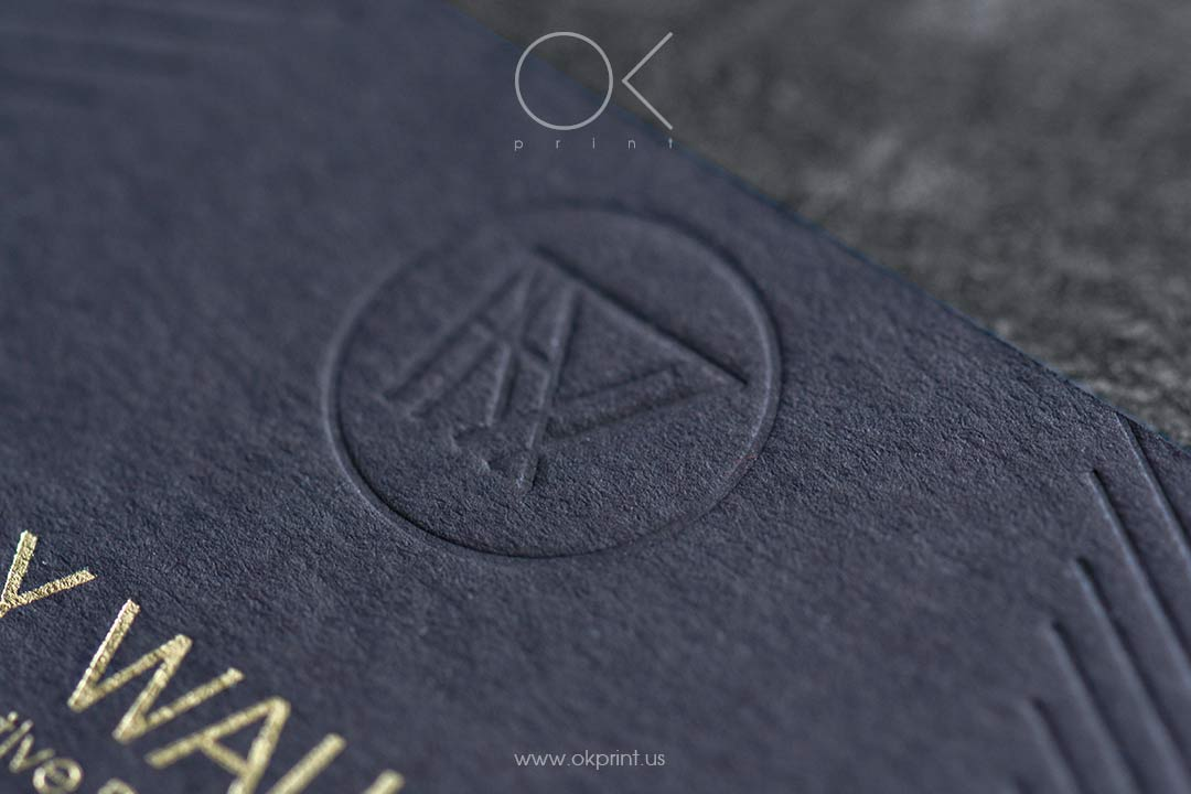 Luxury business cards with debossing