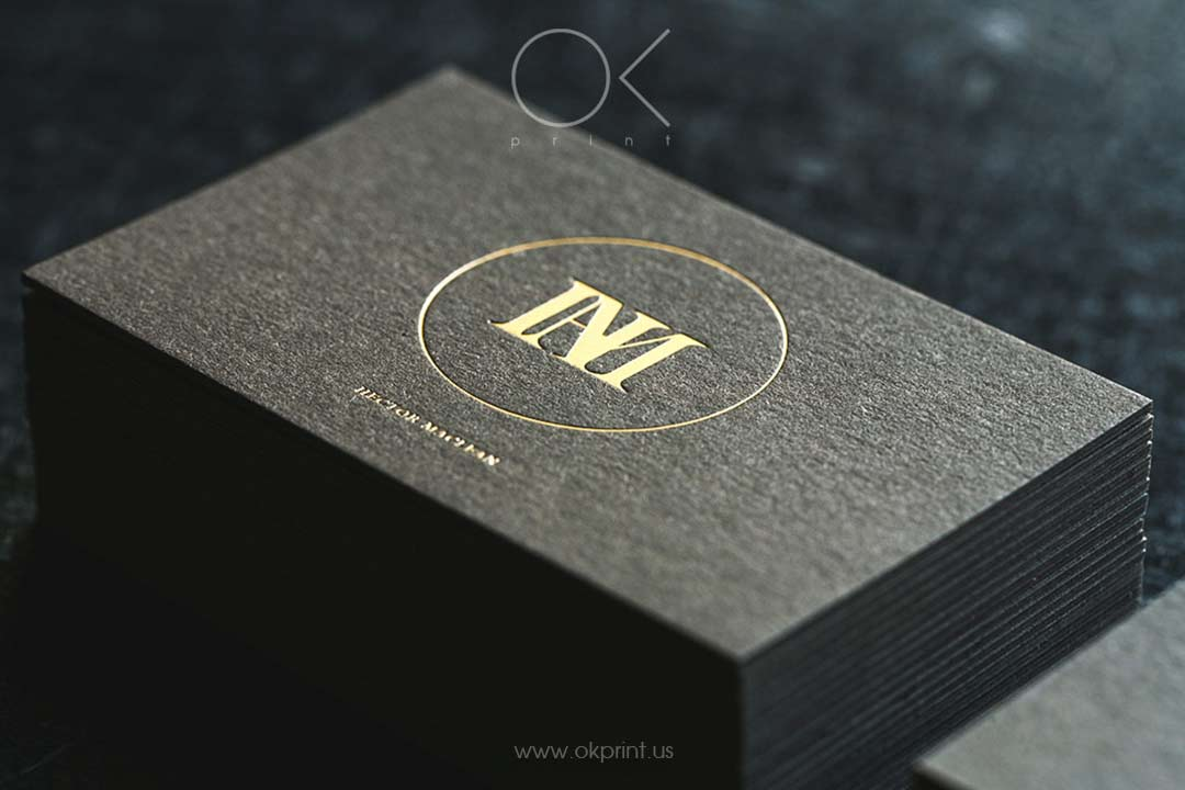 Luxury business cards with gold foil for Designer