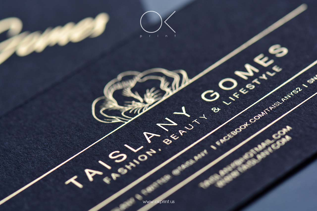 FOILED BUSINESS CARDS FOR BLOGGER – TAISLANY GOMES